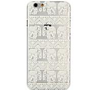 прозрачный круглый цветок шт Материал телефон случае для iPhone 6 / 6с