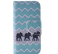 Elephant Pattern Cell Phone Leather For iPhone 5/5S