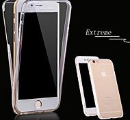 360 graus do magro TPU desimpedida caso telefone macio proteção para iphone 6s 6 plus / iphone mais