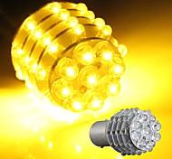 2 * carro de 1157 BA15S sinal de volta estacionamento cauda lâmpada amarela 45 levou 12v luz