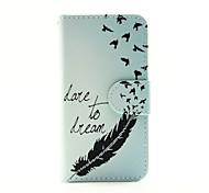 la plume avec hirondelle pu portefeuille en cuir cas de corps entier pour iPod Touch 5/6