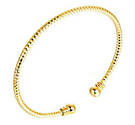 Bracelet Bangles Gold Plated Wedding / Party / Daily / Casual / Sports Jewelry Gift Yellow Gold,1pc