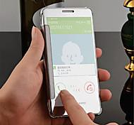 luxe slimme flip slanke s-view aanraking gegalvaniseerd spiegel harde helder transparant case cover voor Samsung Galaxy A5 / A7 / A8