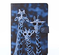patrón de ciervos loca cuero de la PU caso de cuerpo completo con soporte para iPad de aire / ipad 5