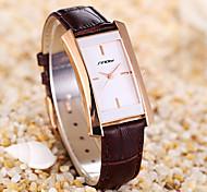Mulheres Relógio de Moda Quartz PU Banda marca- SINOBI