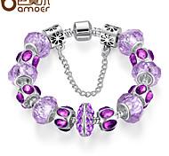 The new series of glass bead purple natural DIY bracelet