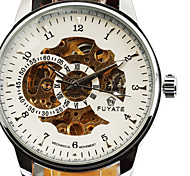 Fashion Activity Ultra Low-Cost Double Movement Quartz Watches Leather Waterproof Men'S Watch