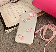 iFashion® Girl Pink Bowknot Lovely Hard And Soft Case for iPhone 6 Plus/6S Plus