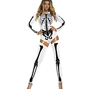 Cosplay Costumes/Party Costumes Bad To The Bone Halloween Skeleton Costume Halloween/Christmas/New Year