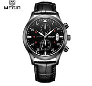 MEGIR® Man Quartz Watches  Fashion Leather Men Calendar Military High Quality Wristwatch Free Shipping Cool Watch Unique Watch