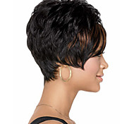 Women's Fashion Short Black Hair Synthetic Wig