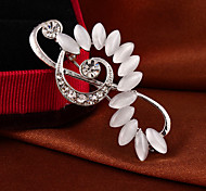 "Fashion Elegant ""Opal Music Breaks""Full Rhinestone Alloy M's Brooch For Woman&Lady"