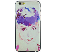 Hepburn 's Picture Pattern  Hard Case for iPhone 6/6S