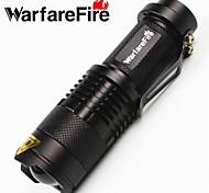 Lanternas LED / Lanternas de Mão LED 1 Modo 350 LumensFoco Ajustável / Prova-de-Água / Recarregável / Resistente ao Impacto / Superfície