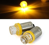 2 x Car 1156 BA9S T4W Yellow Bulb Turn Signal Parking Backup Light Lamp