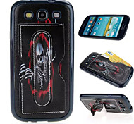 Simple Skull Multifunction Card  Soft Leather TPU Material Phone Case for Samsung Galaxy J1/J1ACE/G360/G530