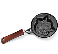 Wolf Cartoon Characters Pan Fried Eggs Mini Without Cover A Frying Pan