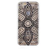 Black Pattern Pattern Transparent Phone Case Back Cover Case for iPhone6 Plus/6S Plus
