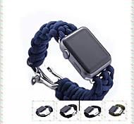 mais novas faixas de relógio de patente de design cabo pára-quedas para pulseira de relógio de maçã para a atividade esportiva ao ar livre