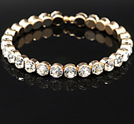 Fashion Crystal One Layer Bracelet Bangle for Party Women