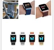 novo loop milanese malha de aço inoxidável pulseira de relógio de substituição para apple edição esporte colourfull 38 milímetros 42