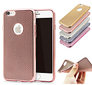 Plated Mobile Phone Shell Texture Mobile Phone Shell Non Transparent Soft Shell For Iphone6/Iphone 6s(Assorted Colors)