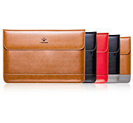 LENTION Genuine Leather Shockproof Anti-scratch Slim Carrying Laptop Bag  Case Sleeve for 15-inch Macbook