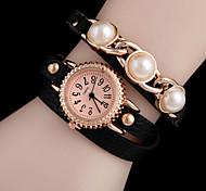 Woman Pearl Wrist  Watch