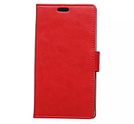 Imitation Genuine Leather Solid Color Wallet Card PU Case with Stand for Huawei Y360(Assorted Colors)