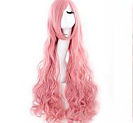 perruque de longs cheveux bouclés chaude soie rose perruque cosplay vendre comme des petits pains