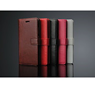 High class PU Leather Wallet Case Full body Case with Stand Solid Color for Huawei p8 Lite
