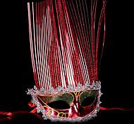 Маски / Маскарад Ангел и черт Фестиваль / праздник Костюмы на Хэллоуин красный / Золотой / Серебро Однотонный Маски Хэллоуин / Карнавал