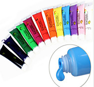 12 Color Gel Nail Polish For Nail Art Designs 3D Acrylic Nail Paint For Top Coat 12ml Per One Tube