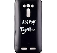 cassa del telefono felici insieme modello TPU per zenfone ze550kl 2 laser