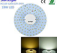 YouOKLight® 19W 1800lm 3000/6000K Warm White Light /White Light 100-2835 SMD LED Light Source (AC110-120/220-240V)