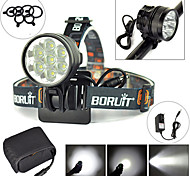 10000LM 7X XM-L T6 LED Front Bicycle Light Bike Lamp Torch+8.4V 20000mAh Battery