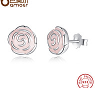 Hot Sale Real 925 Sterling Silver Dazzling Daisy Stud Earrings With CZ For Women Compatible with Jewelry Authentic Gift