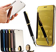 Для Кейс для Huawei Зеркальная поверхность / Флип Кейс для Чехол Кейс для Один цвет Твердый Акрил Huawei