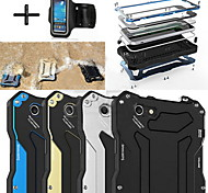 R-JUST Gundam 100% Waterproof Metal Aluminum Gorilla Glass Case +Sports armband for iPhone6 Plus