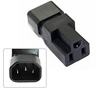 CY® IEC 320 Male C14 to Female 5-15R Power Extension Adapter