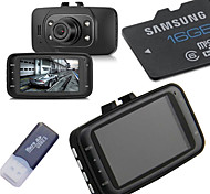 16G Memory Card+HD 1080P Car DVR Vehicle Camera Video Recorder Dash Cam G-sensor HDMI GS8000L