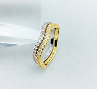 Women's fashion zircon ring