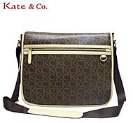 Kate & Co.® Women PVC Shoulder Bag Gray - TH-02234