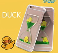 sanlead Ente PC mit Gummi und Sand Flüssigkeit zurück Fall für iphone6,6s