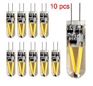 10 stuks Kakanuo G4 1.5 W 2pcs Filament COB COB 120-150lm LM Warm wit T Decoratief 2-pins lampen DC 12 / AC 12 V