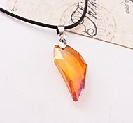 Men Fashion Wolf's Fang Crystal Pendant Necklace