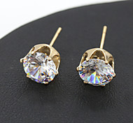 Women's Korean Style New Fashion Cute Zircons Crystal Earring