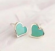 Love Hear Resin Candy Colors Stud Earring(2 Colors)