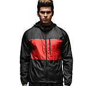 Vansydical Men's Ultraviolet Resistant Fitness Tops Red / Blue / Dark Pink