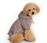 Dog Hoodies - S / M / L / XL / XXL - Winter - Red / Black / Gray / Orange - Keep Warm / Fashion - Mixed Material